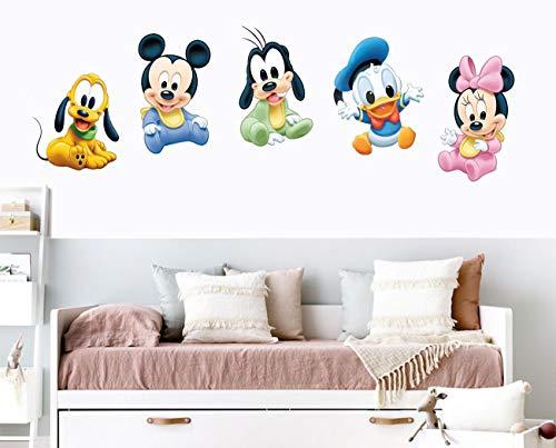 Sticker Mural en Vinyle pour Enfants avec Personnages Disney - Facile à Poser - pour Chambre d'enfant - Différentes Dimensions