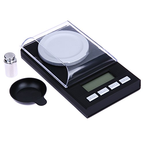 Cikuso Mini bascula Digital portatil Bascula de Bolsillo de Alta Precision de Joya Diamante de Equilibrio de Capacidad Electronica LCD 20g / 0.001g