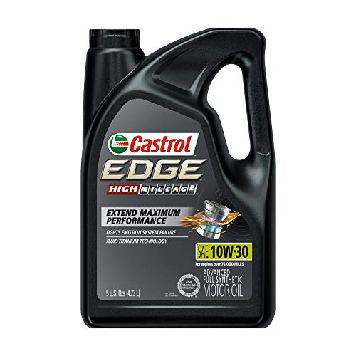 Castrol 03129C Edge High Mileage 10W-30 Advanced Full Synthetic Motor Oil, 5 Quart, 3 Pack