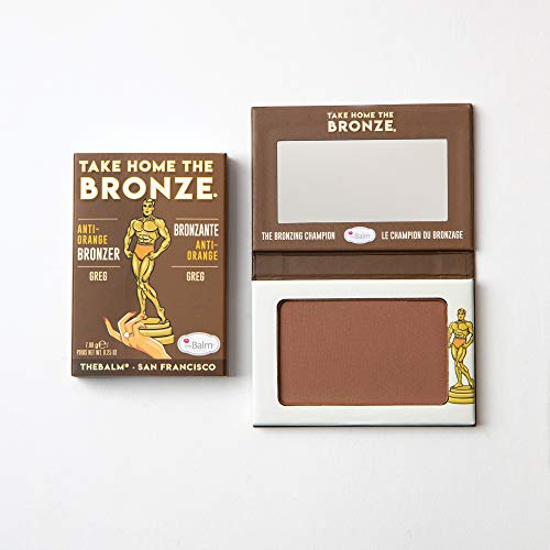 theBalm Take Home The Bronze, Greg, Long Lasting, Anti-Orange Bronzer, Durable Cosmetics, Contour...