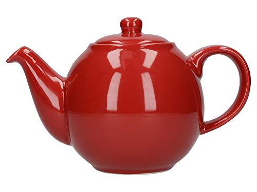 Dexam London Pottery - Teiera sferica da 2 Tazze, Colore: Rosso