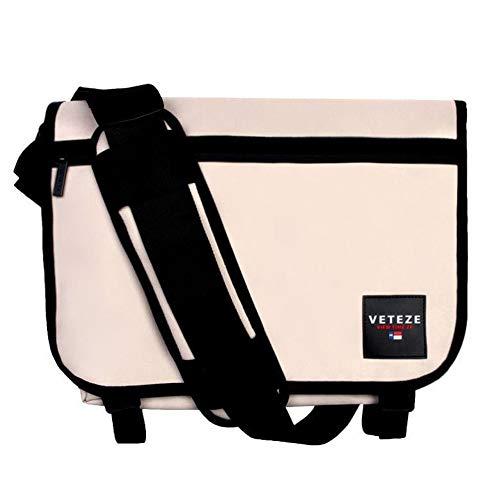 【VETEZE】 ベテゼ 本社 正規品 Retro Cross Messenger Bag レトロ クロス メッセンジャーバッグ (Beige)