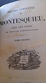 Oeuvres complètes. de Montesquieu