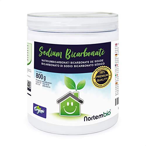 Nortembio Bicarbonato de Sodio 800g, Insumo Ecológico de Origen Natural, Libre de Aluminio, EBook Incluido.
