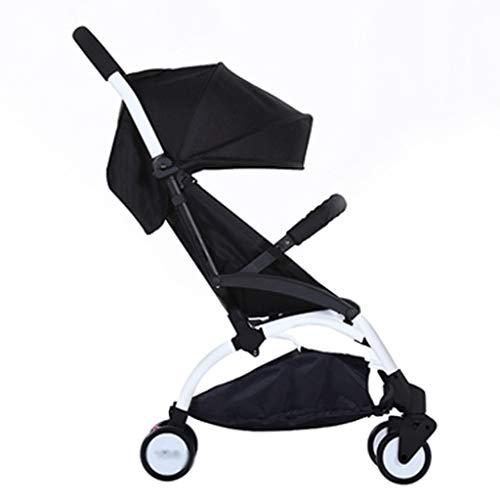 Cochecito de bebe Bebés y niños pequeños cochecito de bebé del cochecito de niño del carro compacto cochecitos silla de paseo sola añadir bandeja del cochecito portabebida Cochecito ( Color : Black )