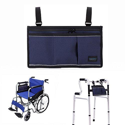 Walker Bags - Bolsa de viaje para silla de ruedas y scooter eléctrico, bolsa de transporte, reposabrazos lateral, organizador de malla, funda de almacenamiento