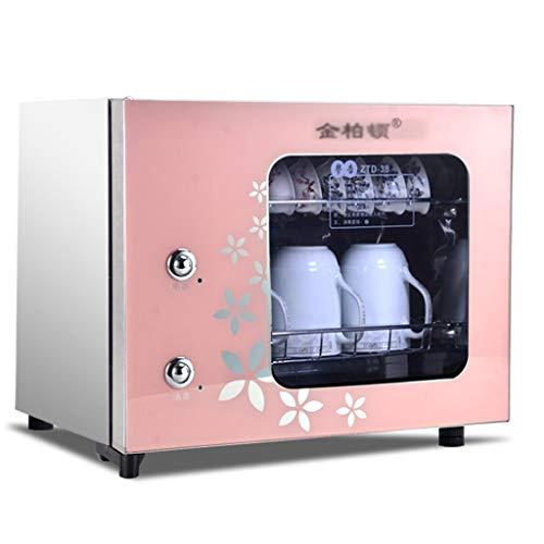 Elektro-Großgeräte Desinfektionsschrank Hochtemperatur Tischschrank Lagerung Edelstahl Tee Tasse Trockner Office-Tee-Set Desinfektion (Color : Pink, Size : 43 * 37 * 36cm/17 * 15 * 14inch)