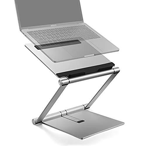 Laptop Stand, Ordenador Portátil Plegable De Aluminio Riser Multi-ángulo De Ajuste con Heat-Vent Ergonómico, Compatible para Todo El...
