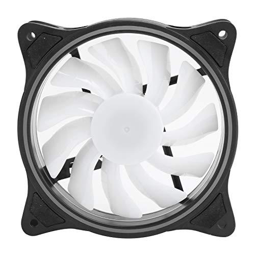 Ventilador de refrigeración de chasis para computadora de Escritorio, emisor de luz Interna y Externa, Gran Volumen de Aire, radiadores de CPU de bajo Ruido, con 11 aspas (Negro)