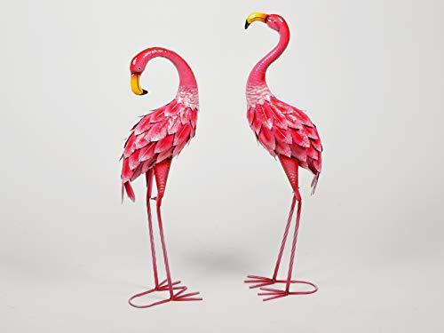 Small-Preis Gartenfigur Flamingo Dekofigur 71-74 cm für Ihren Garten Gartenteich aus Metall