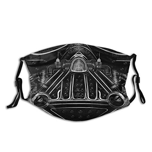 Face Cover, Darth Vader Face Mask Scarf, Mouth Guard, Mouth-Muffle Bandana Neck Gaiter Headband 1 Pcs Black