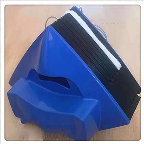 lxiluv Pulizia Vetri Finestre, Pulitore Vetri, Lavavetri Magnetico Universale, Adatto a Qualsiasi Spessore di Finestre, per Vetri Singoli/Doppi O Tripli, Corda Anticaduta da 2.5 M,Blue1-10-45mm