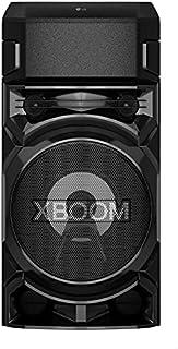 مكبر صوت اكس بوم بخاصية تعزيز الصوت الجهوري الفائق مع تطبيق دي جيه ومدخل لكابل الجيتار من ال جي، RN5، اسود