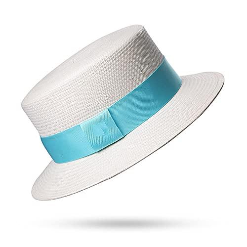 Linckry Verano sombrilla Sombrero de Paja Playa Protector Solar Temperamento Simple señoras Adultas Moda Superior