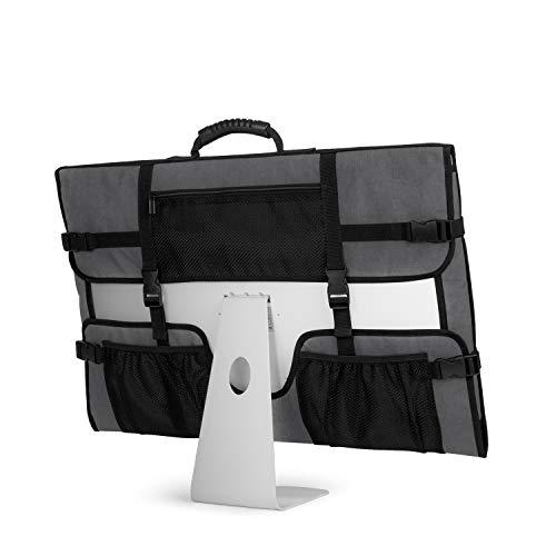 CURMIO Bolsa de Transporte para computadora de Escritorio iMac de 21.5'de Apple, Funda Protectora para Monitor con Funda de Polvo con manija de Goma para Pantalla iMac de 21.5' y Accesorios, Grey