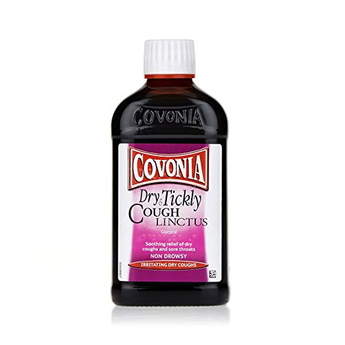 Covonia Dry and Tickly Cough Linctus Syrup, Sore Throat Relief, Non-Drowsy...