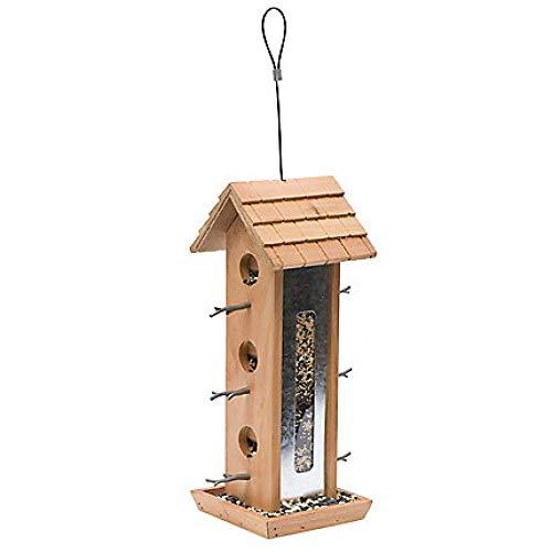 LXYZ Mangeoire pour Oiseaux Sauvages Station d'alimentation de semences Jardin extérieur Patio Arbre en Bois Ensemble de Chalet Suspendu