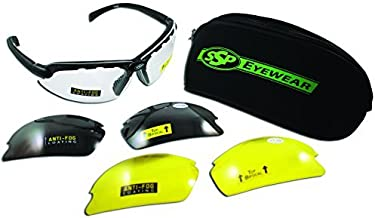 SSP Eyewear Top Focal Tactical Safety Glasses Kit with Assorted Interchangeable 1.25 Bifocal Lenses, TF 1.25 AST KIT