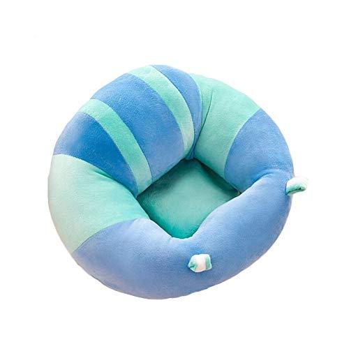 Siège Bébé Canapé en Peluche Assis Chaise Doux Protection Jouet (Bleu)