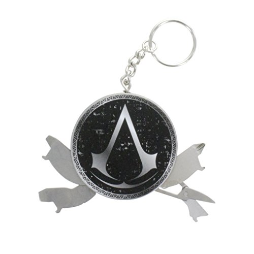 Assassins Creed PP4102AS, Portachiavi Multiuso Assassin's Creed Stemma Gioventù Unisex, Multi, Unica