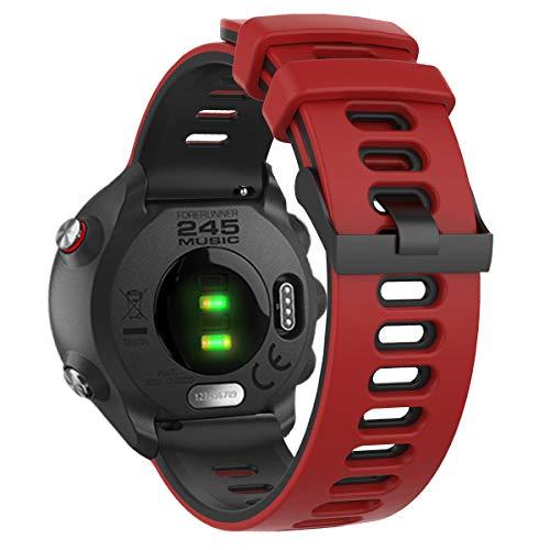 Songsier Forerunner 245 Armband, 20mm Universal Ersatzarmband Uhrenarmband Sportarmband für Vivoactive 3 /Forerunner 645/158/Vivomove HR/Galaxy Watch Active 2 /Huawei GT 42mm und mehr