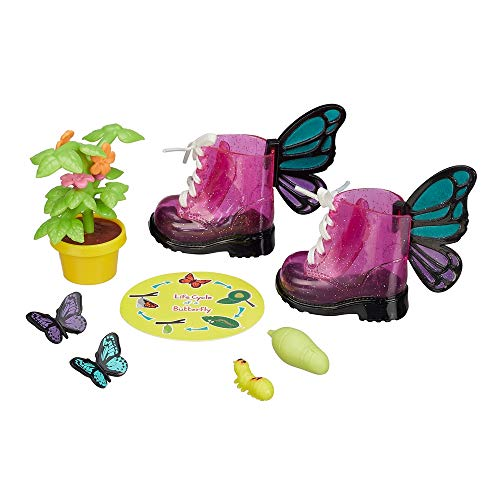 """My Life As Doll Size Butterfly Play Set 10 Piece Butterfly Dress Up Set for 18"""" Dolls ~ 3 Butterflies, Pink Sparkly Boots, Plant and More -  Walmart, 29363-A2204"""