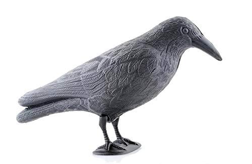 SiaMed Ahuyentador de Pájaros 2.0 – Ahuyentador de Pájaros – Espantapájaros – Concepto mejorado 2020 – Defensa de palomas, gaviotas, pájaros pequeños – 40 cm, negro