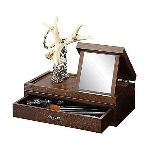 WHZG Schmuckkästen Make-up-Display-Box-Stand-Up-Akzent-Möbel Schlafzimmer Armoires Schmuck Armoire-Brustschrank Lagerorganisator Uhrenbox