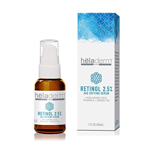 Professional Grade 2.5% Retinol Serum with Hyaluronic Acid and Green Tea Extract- Smooths Wrinkles, Treats Acne, Plumps Skin, Improves Pigmentation 1 fl. Oz