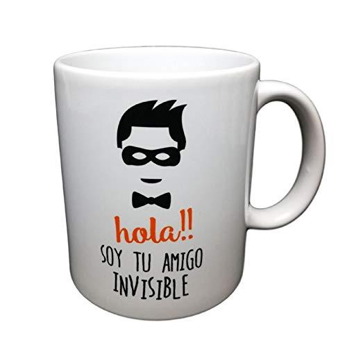 MISORPRESA Taza con Frase Hola Soy TU Amigo Invisible. Regalo Original para TU Amigo Invisible