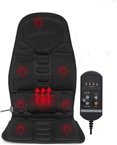 XIAOWANG Shiatsu massage pad, massage kussen voor autostoelen, rug stimulator massage stoel zitkussen met warmte en vibratie functie, massage stoel kussen voor gebruik in huis kantoor auto