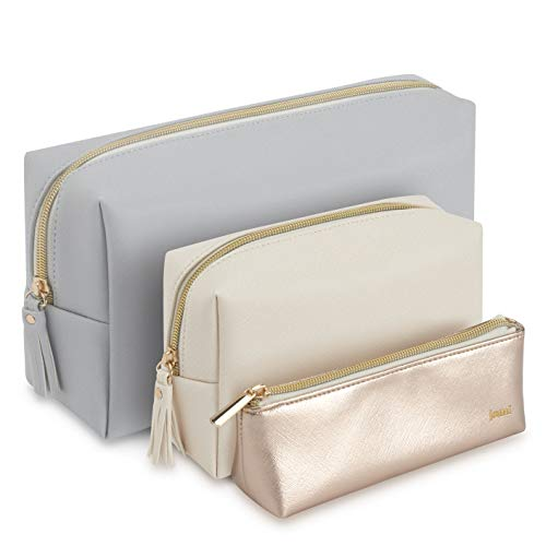 JOMI Set of 3 Large Medium and Small Cosmetic Bag Organiser for Use as Makeup bag and Toiletry bag ideal Pouch for Travel use in Purse Handbag or Luggage great as gift