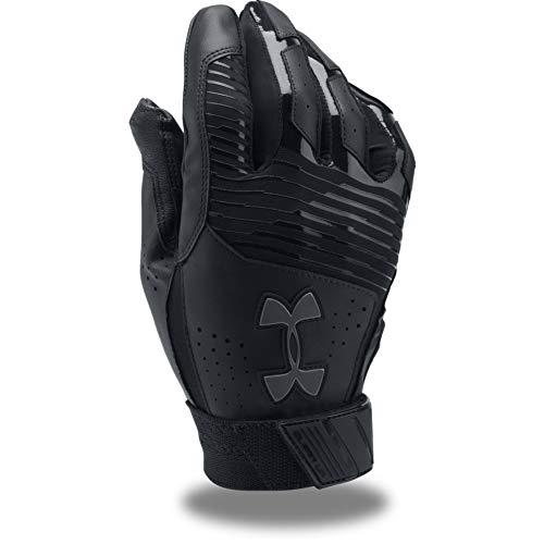 Under Armour Men's Clean Up Baseball Batting Gloves, Black (005)/Graphite, Medium