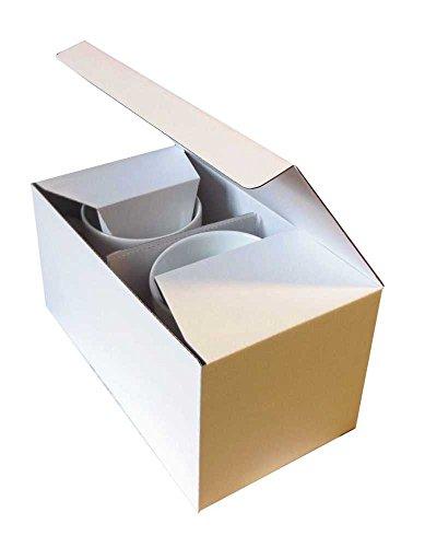 Tassenverpackung 220x120x110mm Für 2 Tassen Weiss/Braun (50)