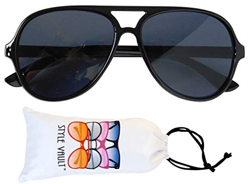 Kd37 Infant Toddler Age 0~24 Months Turbo Aviator Baby Sunglasses(Black )