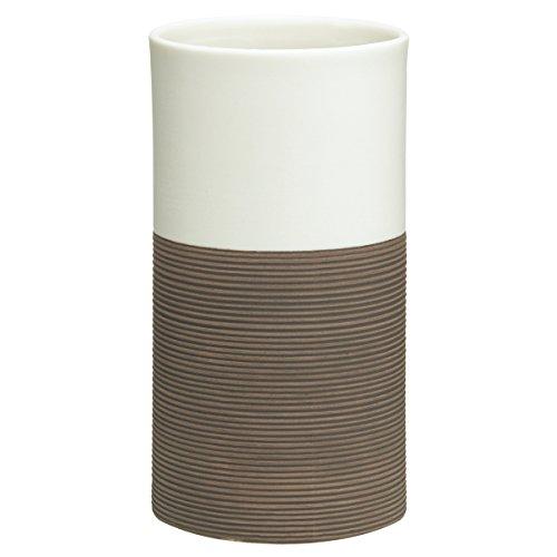 Sealskin Becher Doppio, Zahnputzbecher aus natürlichem Porzellan, Farbe: Braun, handbemalt