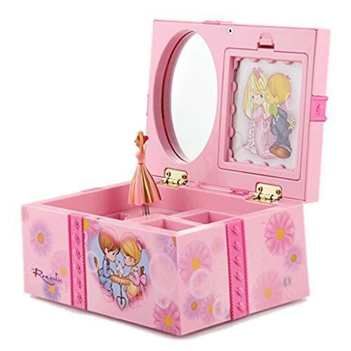 ZXCHB Caja de música para niñas Bailando Adornos Decoración para el hogar Organizador de Almacenamiento de Joyas Caja de música