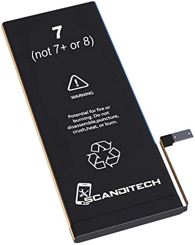 ScandiTech Battery Model iP7 (not 7+) - Compatible with iPhone 7 -...