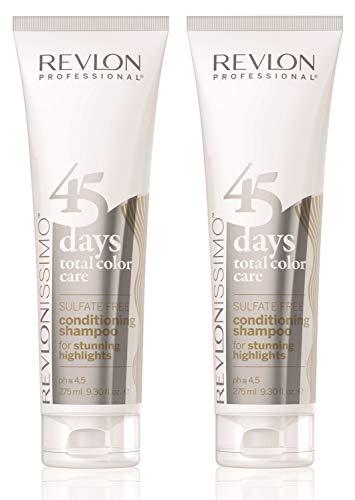 2er Revlon Revlonissimo 45 Days Conditioning Shampoo Stunning Highlights 275 ml