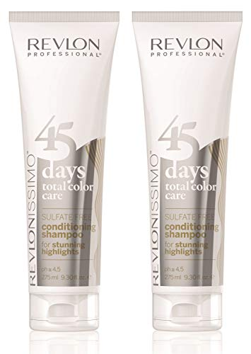 2er Revlon Revlonissimo 45 Days Conditioning Shampoo Stunning Highlights 275 ml
