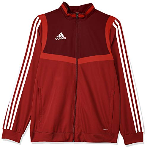 adidas Kinder TIRO19 PRE JKTY Jacket, Power red/White, 11-12