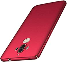 ACMBO for Huawei Mate 9 Case, [Sand Gravel Series] Ultra Thin Slim Fit [Anti-Drop] Shockproof Hard Plastic Phone Cases Cover Compatible for Huawei Mate9, Gravel Red