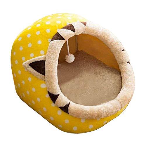 N/A/a Camas de Perro de Moda para los Gatos de Cachorro casa Suave sofás cálidas Camas de Mascotas para Perros pequeños Suministros de Mascotas - Amarillo-L
