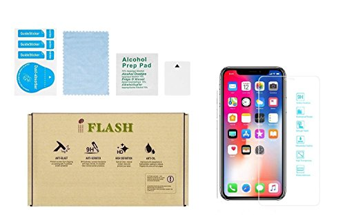"""iPhone X/XS Glass Screen Protector, iPhone 11 Pro Glass Screen Protector, iFlash HD Tempered Glass Screen Protector for Apple iPhone 11 Pro/X/XS [5.8""""inch] - Case Friendly/Bubble Free"""