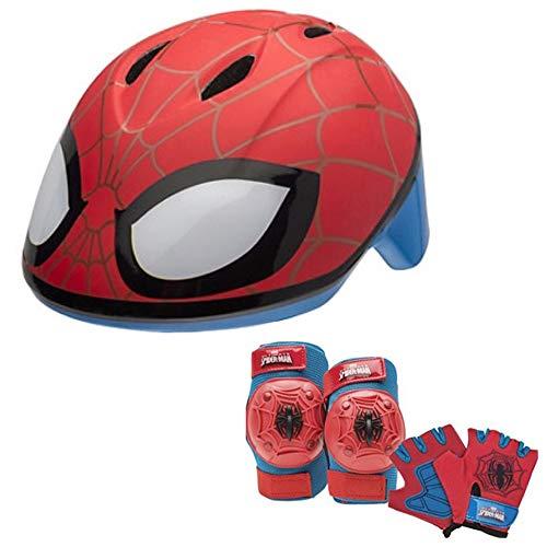 Marvel Spiderman Toddler Skate/Bike Helmet Pads & Gloves - 7 Piece Set