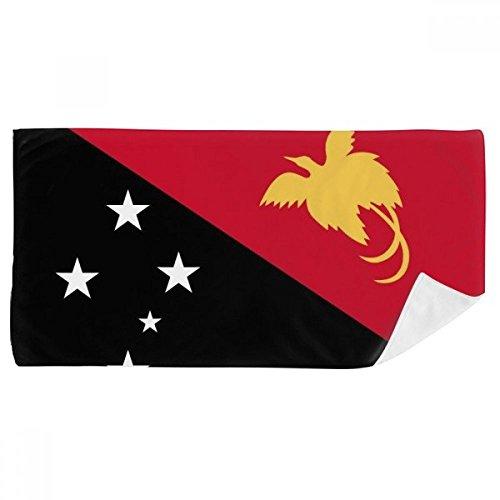 DIYthinker Papua-Neuguinea National Flagge Ozeanien Land Badetuch weichen Waschlap Kulli Waschlap Kulli 35X70Cm 35 x 70cm Mehrfarbig