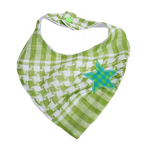 FARBGEWITTER Foulard Palituch LILLY avec étoile en plaid vert menthe
