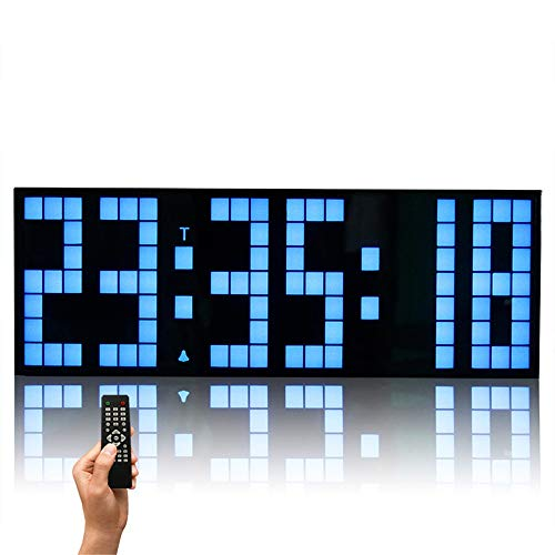 Cuenta regresiva LED reloj Cuenta regresiva LED Reloj Control remoto Jumbo Digital LED Reloj de pared Calendario grande Minuto Reloj despertador Dígitos LED LED Relace Clock Temporizador para eje
