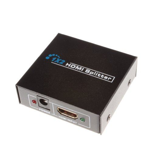Check Out This Water & Wood HDMI 1X2 1 in 2 Out 3D Splitter 1080P Video Amplifier Adapter