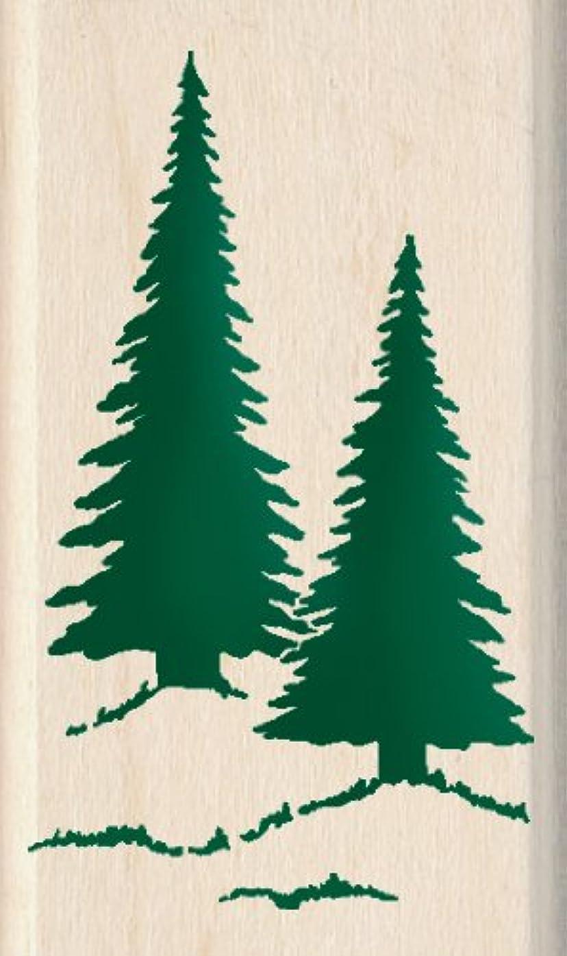 Inkadinkado Pine Trees Wood Stamp
